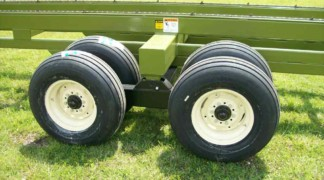 Walking beam axle