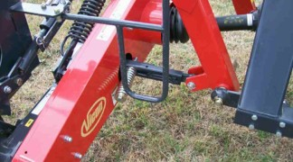 Break away protection each mower